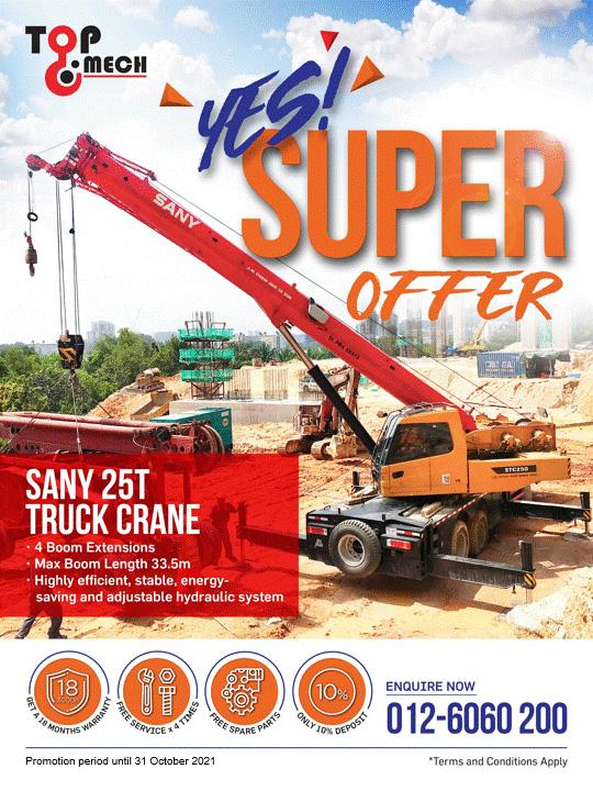 STC250 Sany 25T Truck Crane Campaign